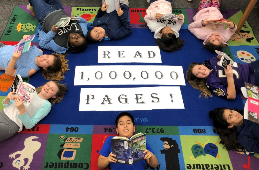 Students Reading A Million Pages
